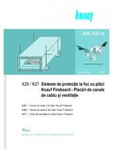 Placari pentru protectie la foc a canalelor de cabluri si ventilatie cu placi Fireboard KNAUF