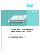 Sisteme de pardoseli flotante uscate din placi Vidifloor KNAUF