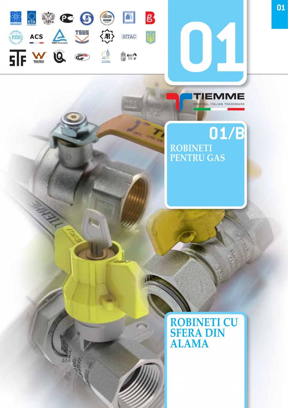 Pagina 1 - Robineti pentru instalatii de gaz TIEMME TORNADO, URAGANO Catalog, brosura Romana ACS  01...