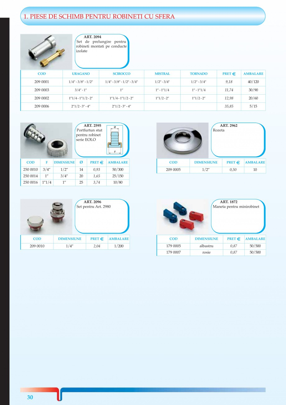 """Catalog, brosura Robineti pentru instalatii de gaz TORNADO, URAGANO TIEMME Robineti cu sfera pentru sistemele de alimentare cu gaz TIEMME SYSTEMS 2"""" - 3/4"""" 1"""" - 1""""1/4 1""""1/2 - 2""""  TORNADO 1/2"""" - 3/4"""" 1"""" - 1""""1/4 1""""1/2 - 2""""  ... - Pagina 8"""