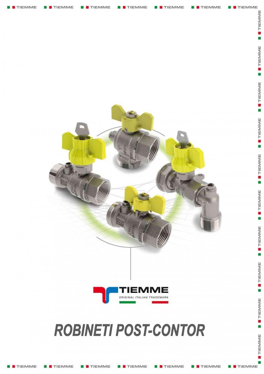 Pagina 1 - Robineti de gaz pentru instalare post-control TIEMME PCONT01, PCONT01SER, PCONT02, ...