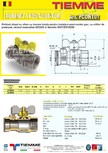 Robinet de gaz pentru instalare post-control TIEMME - PCONT01