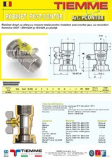 Robinet de gaz pentru instalare post-control TIEMME