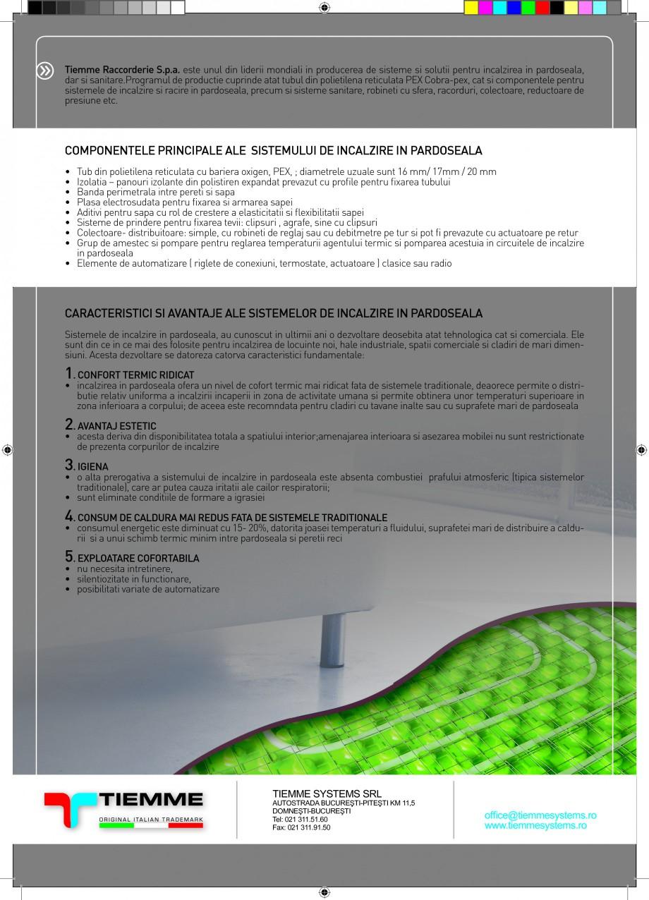 Pagina 2 - Caracteristici ale sistemelor de incalzire in pardoseala TIEMME Catalog, brosura Romana...