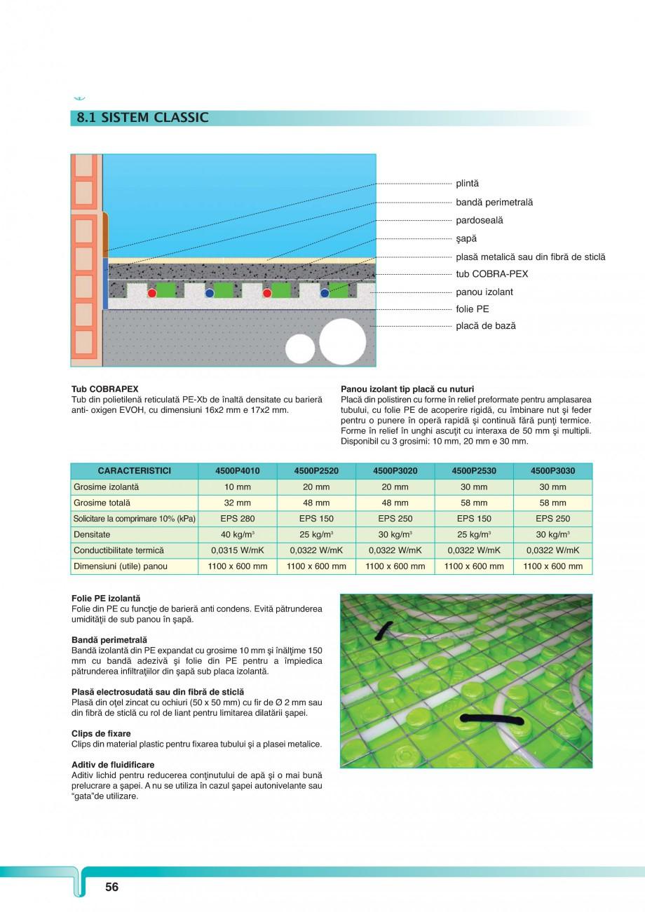 Pagina 1 - Sistem de incalzire in pardoseala TIEMME CLASSIC Fisa tehnica Romana 8. SOLUŢII...