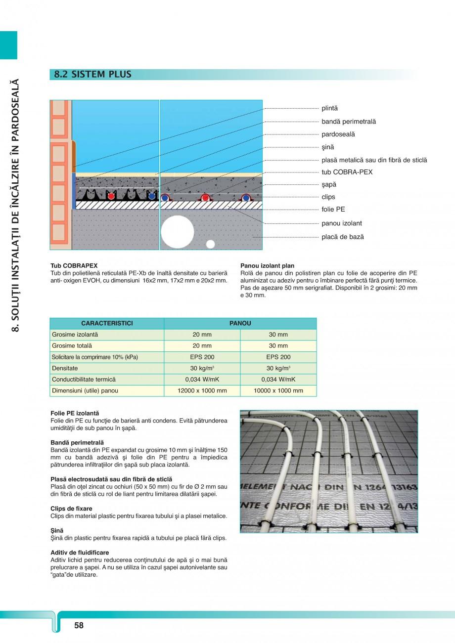 Pagina 1 - Sistem de incalzire in pardoseala TIEMME PLUS Fisa tehnica Romana 8. SOLUŢII INSTALAŢII...