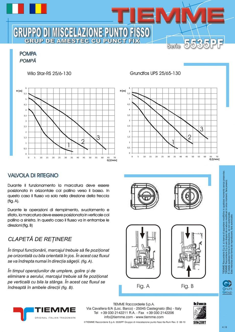 Pagina 4 - Grup de amestec pentru sisteme de incalzire in pardoseala TIEMME Fisa tehnica Romana,...