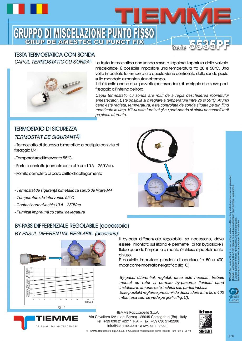 Pagina 5 - Grup de amestec pentru sisteme de incalzire in pardoseala TIEMME Fisa tehnica Romana,...