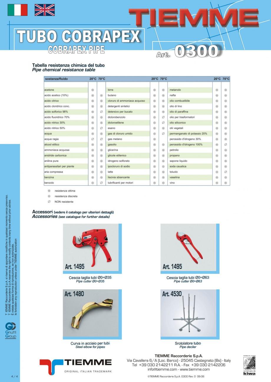 Pagina 4 - Tuburi din polietilena reticulata cu silan si bariera antioxigen TIEMME Fisa tehnica...