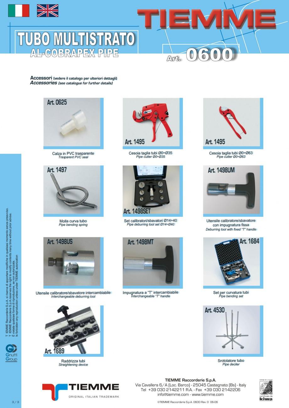Pagina 3 - Tuburi multistrat cu insertie de aluminiu TIEMME Fisa tehnica Romana, Engleza, Italiana ...
