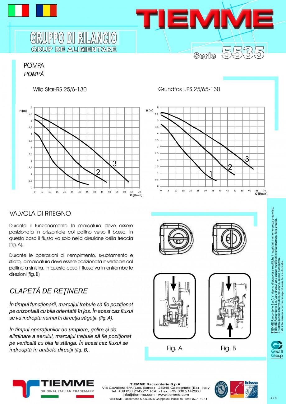 Pagina 4 - Grup de alimentare TIEMME 5535G Fisa tehnica Romana, Italiana acchi 1''½ M,...