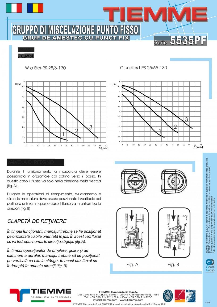 Pagina 4 - Grup de amestec cu punct fix TIEMME 5535GPF Fisa tehnica Romana, Italiana con attacchi...