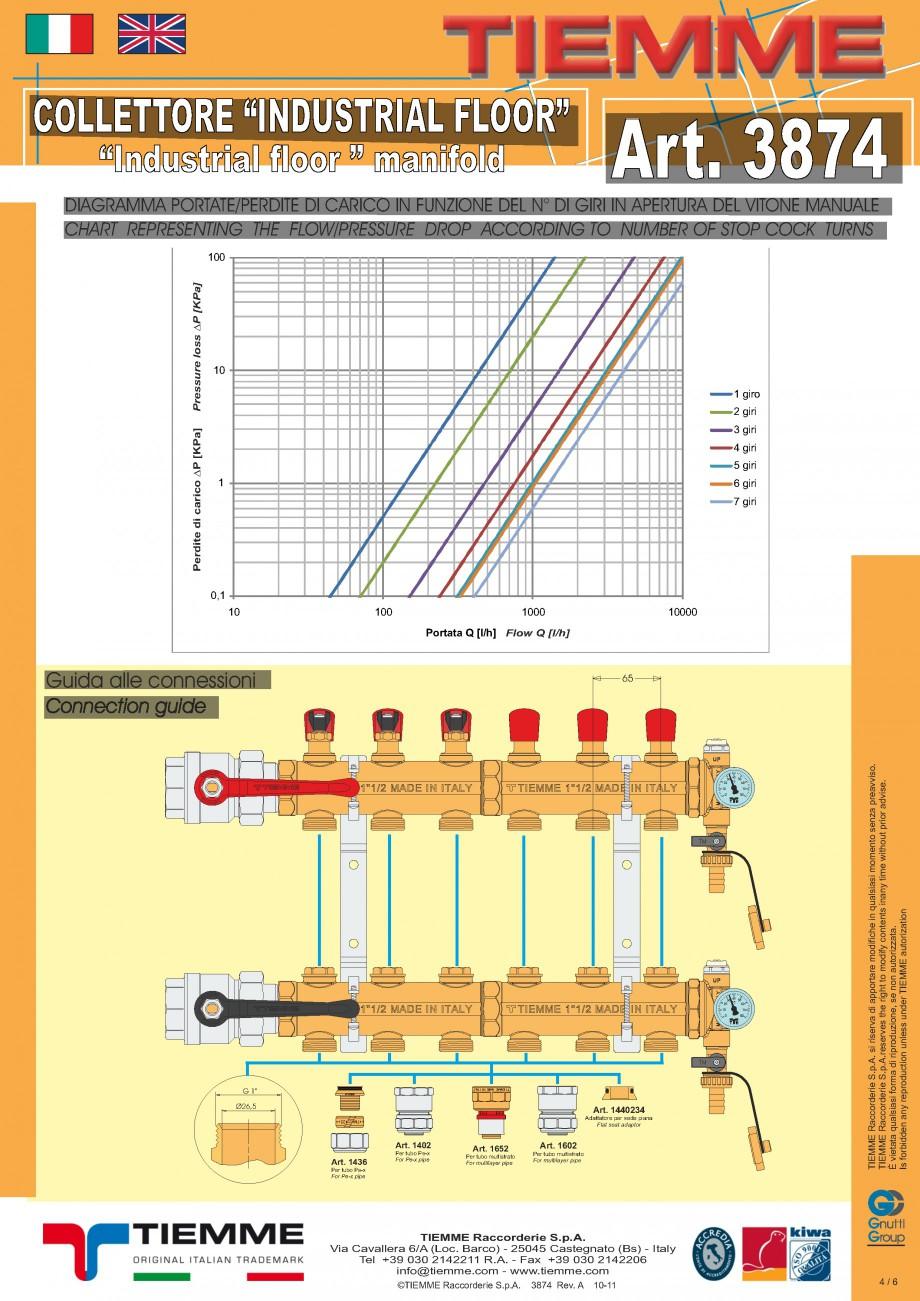 Pagina 4 - Cuplu de colectoare modulare din alama - Industrial Floor 3874 TIEMME Fisa tehnica...