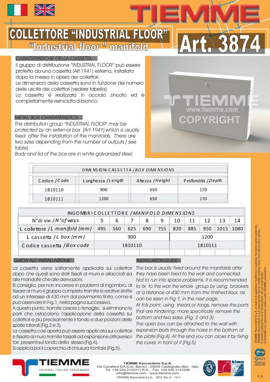 Pagina 5 - Cuplu de colectoare modulare din alama - Industrial Floor 3874 TIEMME Fisa tehnica...