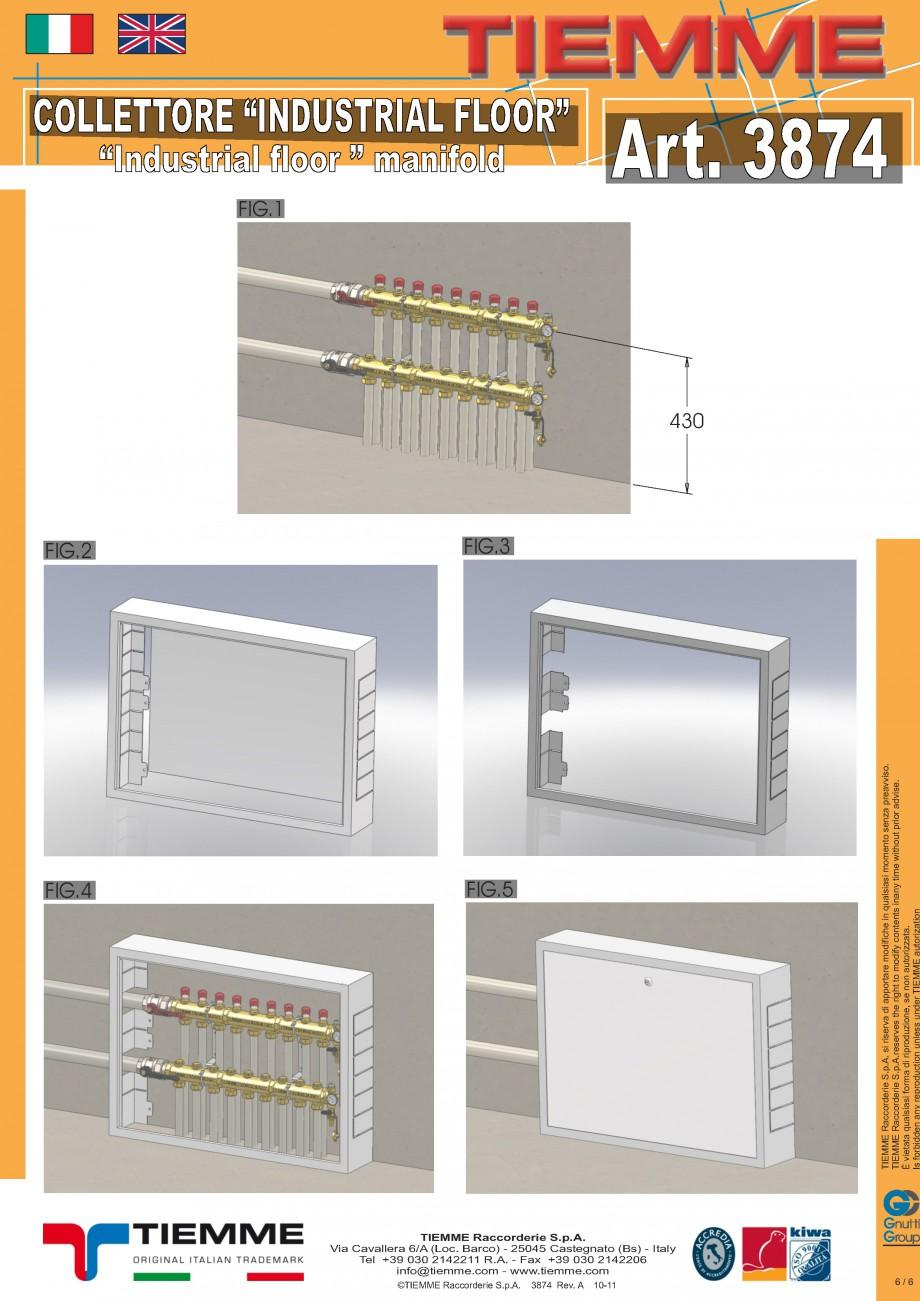 Pagina 6 - Cuplu de colectoare modulare din alama - Industrial Floor 3874 TIEMME Fisa tehnica...