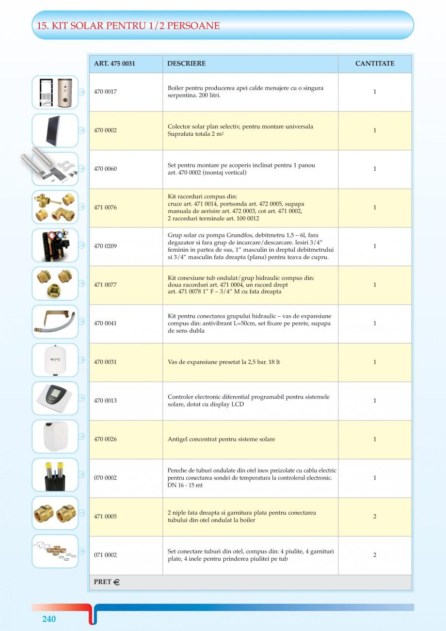 Pagina 1 - KIT-uri solare pentru 1-2 sau 3-4 Persoane TIEMME Kit Solar 1/2 Persoane, Kit Solar 3/4...