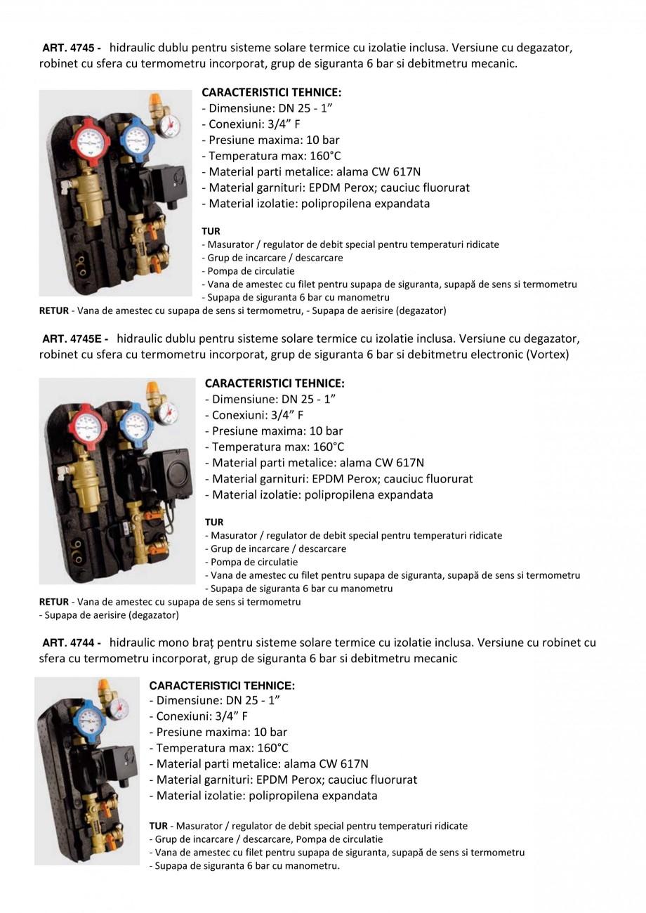 Pagina 1 - Grupuri hidraulice pentru Sisteme solare termice TIEMME 4745, 4745E, 4744  Fisa tehnica...