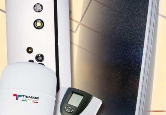 Sisteme solare complete pentru apa calda menajera TIEMME