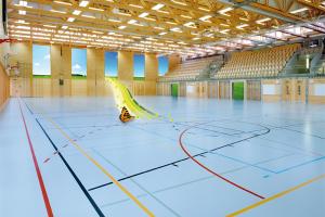 Pardoseli sportive, turnate Pardoselile sportive, turnate de la CONICA sunt aplicate in spatii interioare, exterioare si pentru terenurile de joaca. Sunt rezistente la intemperii, pete si crampoane.
