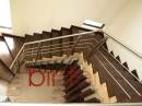 Scara placata cu lemn si balustrada inox cu montanti stejar | Scari cu structura metalica |