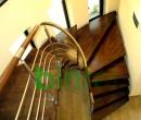 Scara cu vang central si trepte din stajar | Scari cu structura metalica |