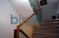 Balustrade din inox, otel, sticla si lemn BINTEL