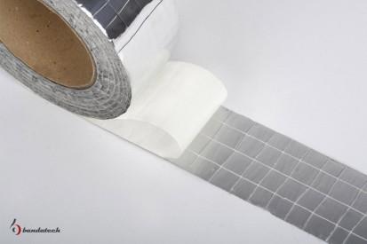 Rola banda adeziva din aluminiu ranforsat - detaliu Banda adeziva din aluminiu ranforsat