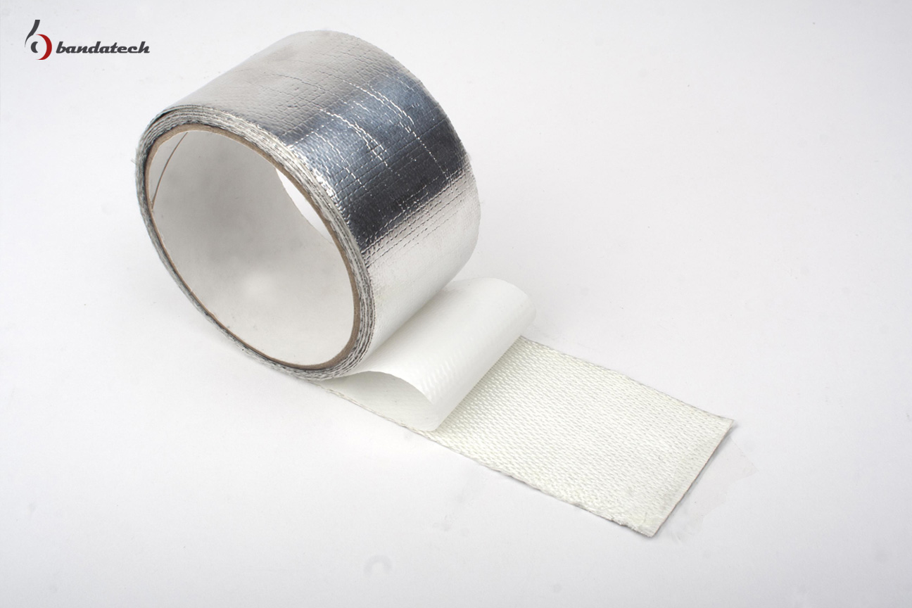 Banda adeziva din aluminiu gofrat BANDATECH - Poza 1