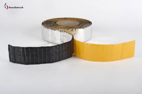 Prezentare produs Banda adeziva anticondens din cauciuc elastomeric expandat cu aluminiu BANDATECH - Poza 1
