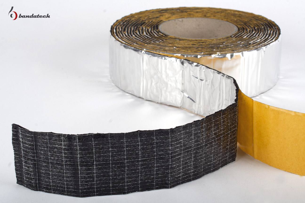 Banda adeziva anticondens din cauciuc elastomeric expandat cu aluminiu BANDATECH - Poza 4