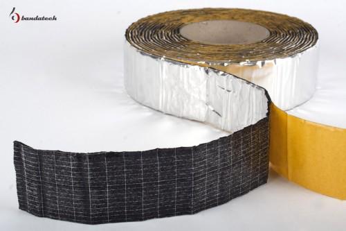 Prezentare produs Banda adeziva anticondens din cauciuc elastomeric expandat cu aluminiu BANDATECH - Poza 4