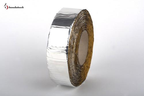 Prezentare produs Banda adeziva anticondens din cauciuc elastomeric expandat cu aluminiu BANDATECH - Poza 6