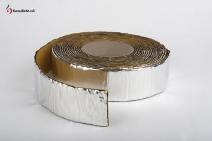 Rola banda adeziva anticondens din cauciuc elastomeric cu aluminiu - orizontal Banda adeziva anticondens din cauciuc