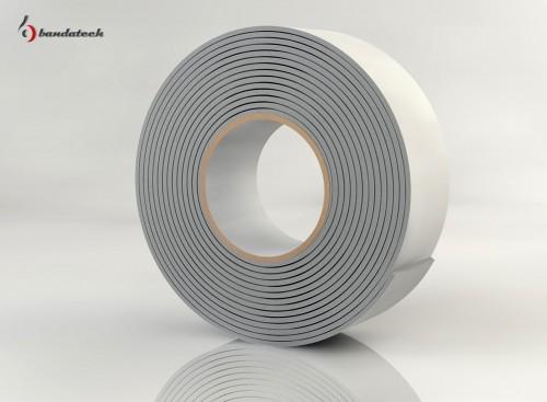 Prezentare produs Banda adeziva din polietilena de culoare alba BANDATECH - Poza 5