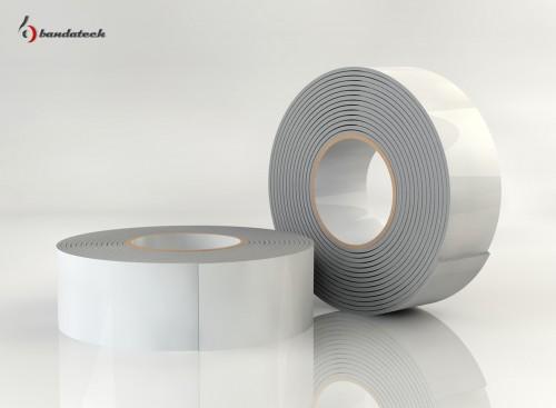 Prezentare produs Banda adeziva din polietilena de culoare alba BANDATECH - Poza 7
