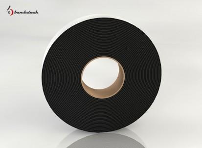 Rola banda adeziva polietilena de culoare gri - lateral Banda adeziva din polietilena de culoare gri
