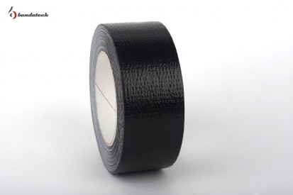 Rola banda adeziva PVC cu insertie textila AMERICAN TAPE - neagru lateral Banda adeziva din PVC