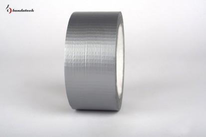 Rola banda adeziva PVC cu insertie textila AMERICAN TAPE - gri Banda adeziva din PVC cu