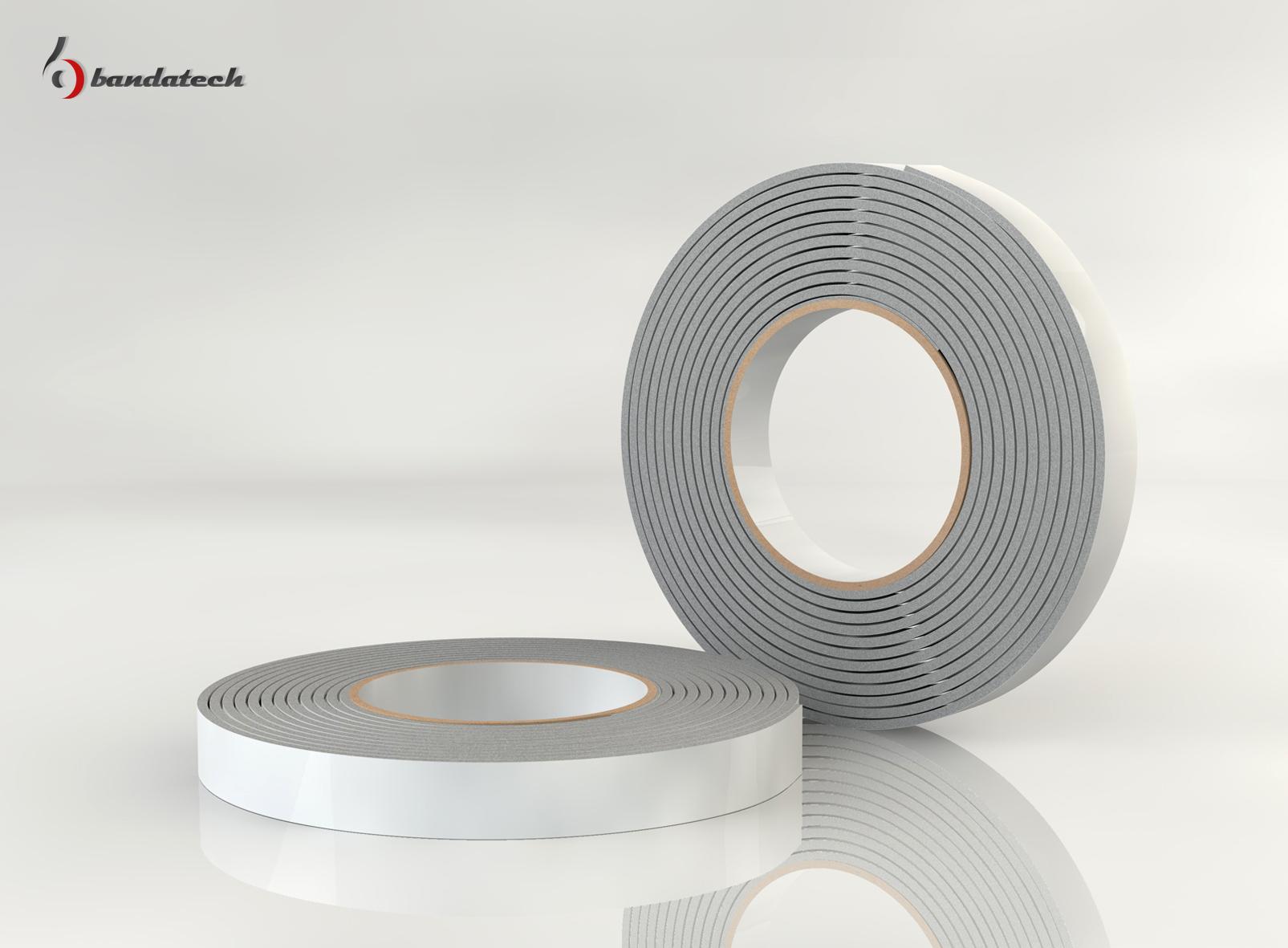 Garnituri adezive din polietilena de culoare gri BANDATECH - Poza 2