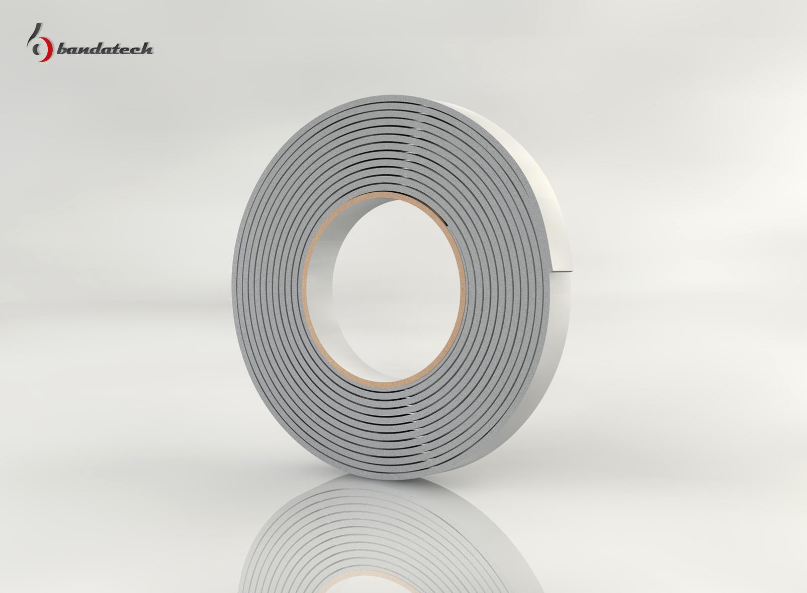 Garnituri adezive din polietilena de culoare gri BANDATECH - Poza 3