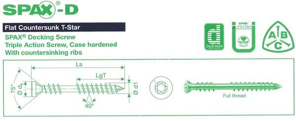 Suruburi profesionale pentru montarea deck-urilor SPAX - Poza 6