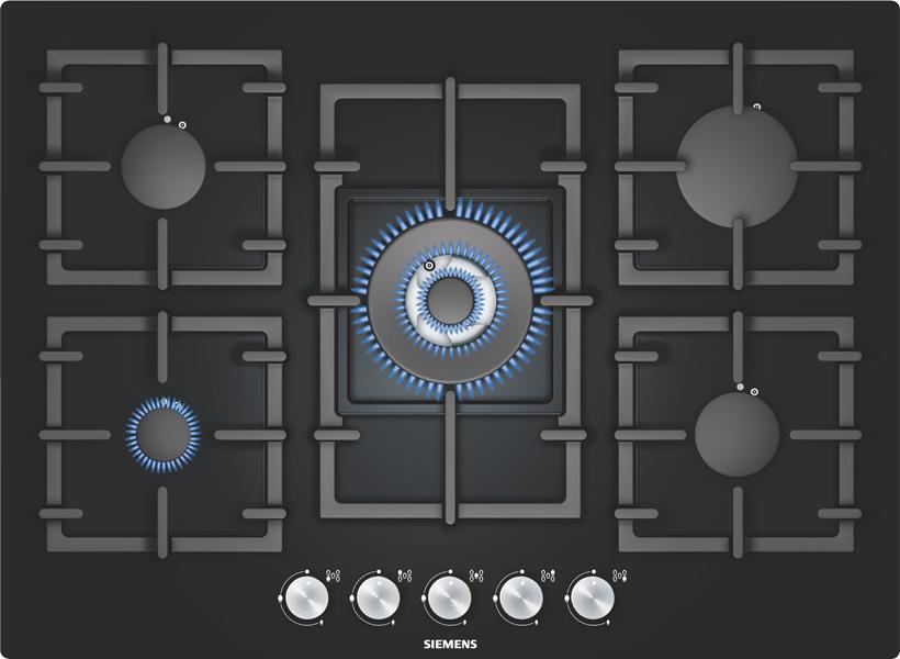 Plite incorporabile cu gaz SIEMENS - Poza 3