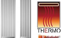 Panouri radiante electrice Incalzitoarele de plafonRADIALIGHT THERMOutilizeaza o tehnologie particulara, inovativa, unica, DHS (Diffused Heating System), care produce caldura generata integral prin radiatie (elemente incalzitoare din aluminiu argintat) folosind o suprafata mare de radiatie, prin functionare la temperaturi mici (dar deosebit de eficiente) cu un consum energetic extrem de redus pe unitatea de suprafata.