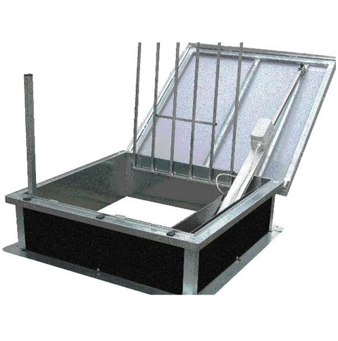 Trape de acces pe acoperis cu functie de evacuare fum HEXADOME - Poza 1
