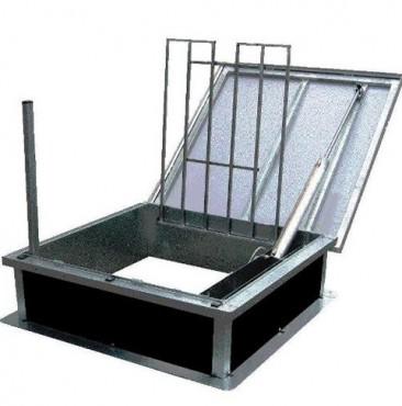 Trape de acces pe acoperis cu functie de evacuare fum HEXADOME - Poza 2