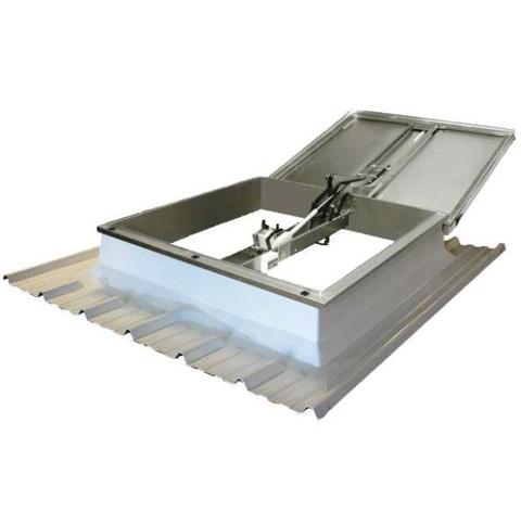 Trape de fum pentru acoperisuri cu panouri sandwich HEXADOME - Poza 2