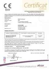Certificat de conformitate EN 12101-2 HEXADOME