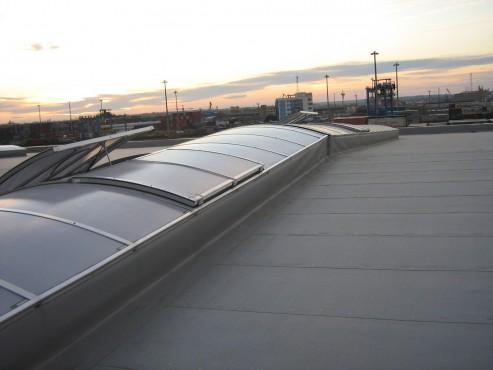 Lucrari, proiecte Luminatoare industriale - Depozit Kronospan - Agigea HEXADOME - Poza 1