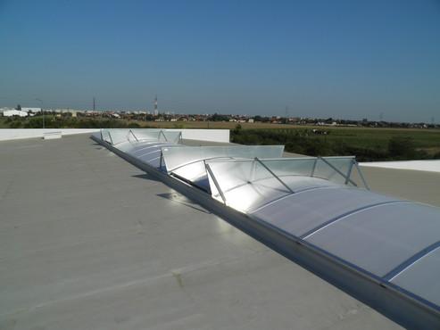 Lucrari, proiecte Luminatoare industriale - Showroom BMW Arad HEXADOME - Poza 2