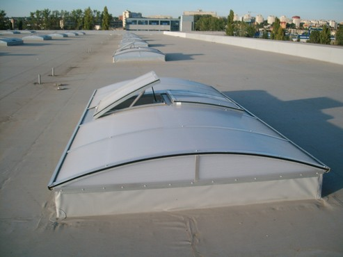 Lucrari, proiecte Luminatoare industriale - Spatiu comercial Baumax - Iasi HEXADOME - Poza 4